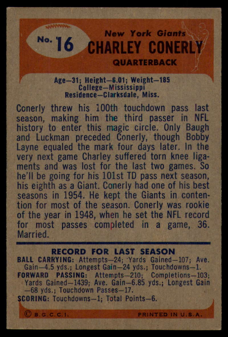1955-Bowman-Football-1-70-Complete-your-set-Pick-your-card thumbnail 81