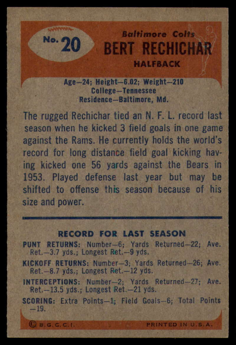 1955-Bowman-Football-1-70-Complete-your-set-Pick-your-card thumbnail 93