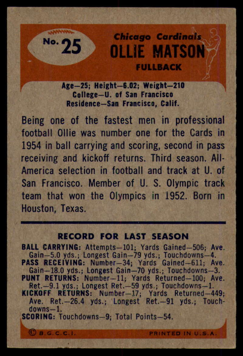 1955-Bowman-Football-1-70-Complete-your-set-Pick-your-card thumbnail 125