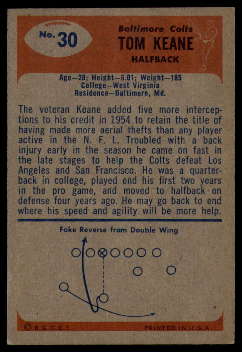 1955-Bowman-Football-1-70-Complete-your-set-Pick-your-card thumbnail 153