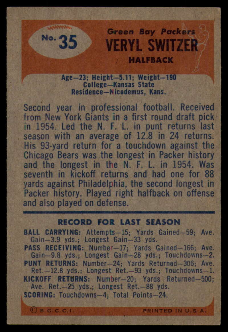 1955-Bowman-Football-1-70-Complete-your-set-Pick-your-card thumbnail 171