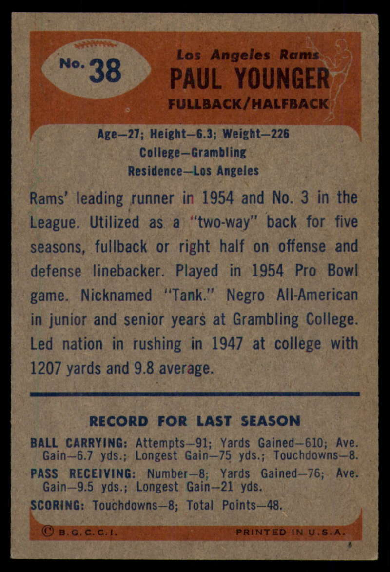 1955-Bowman-Football-1-70-Complete-your-set-Pick-your-card thumbnail 179