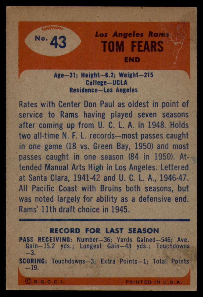 1955-Bowman-Football-1-70-Complete-your-set-Pick-your-card thumbnail 209