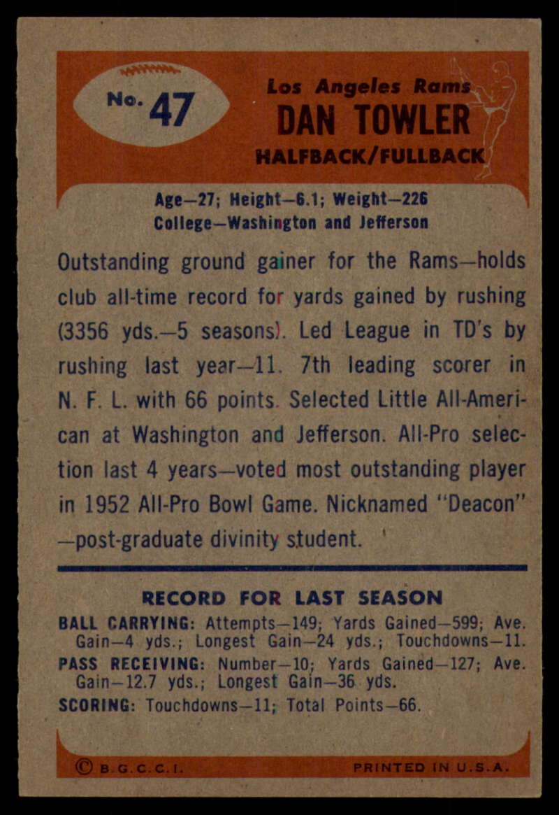 1955-Bowman-Football-1-70-Complete-your-set-Pick-your-card thumbnail 243