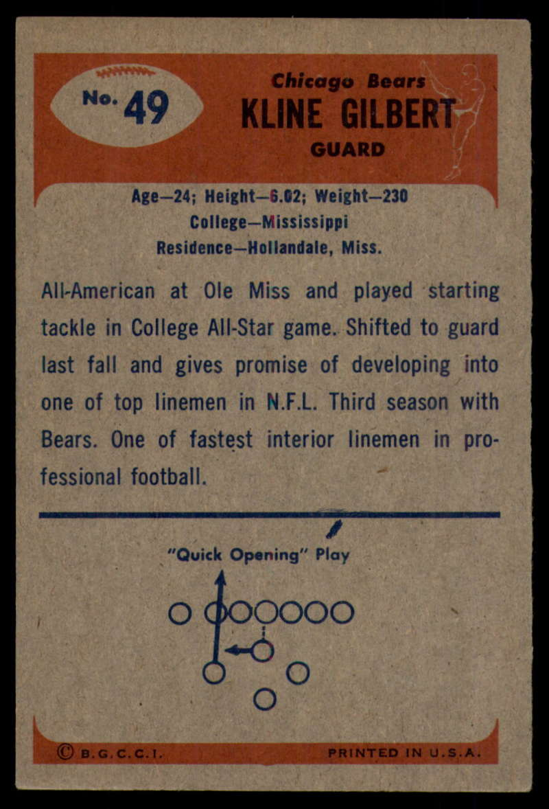 1955-Bowman-Football-1-70-Complete-your-set-Pick-your-card thumbnail 255