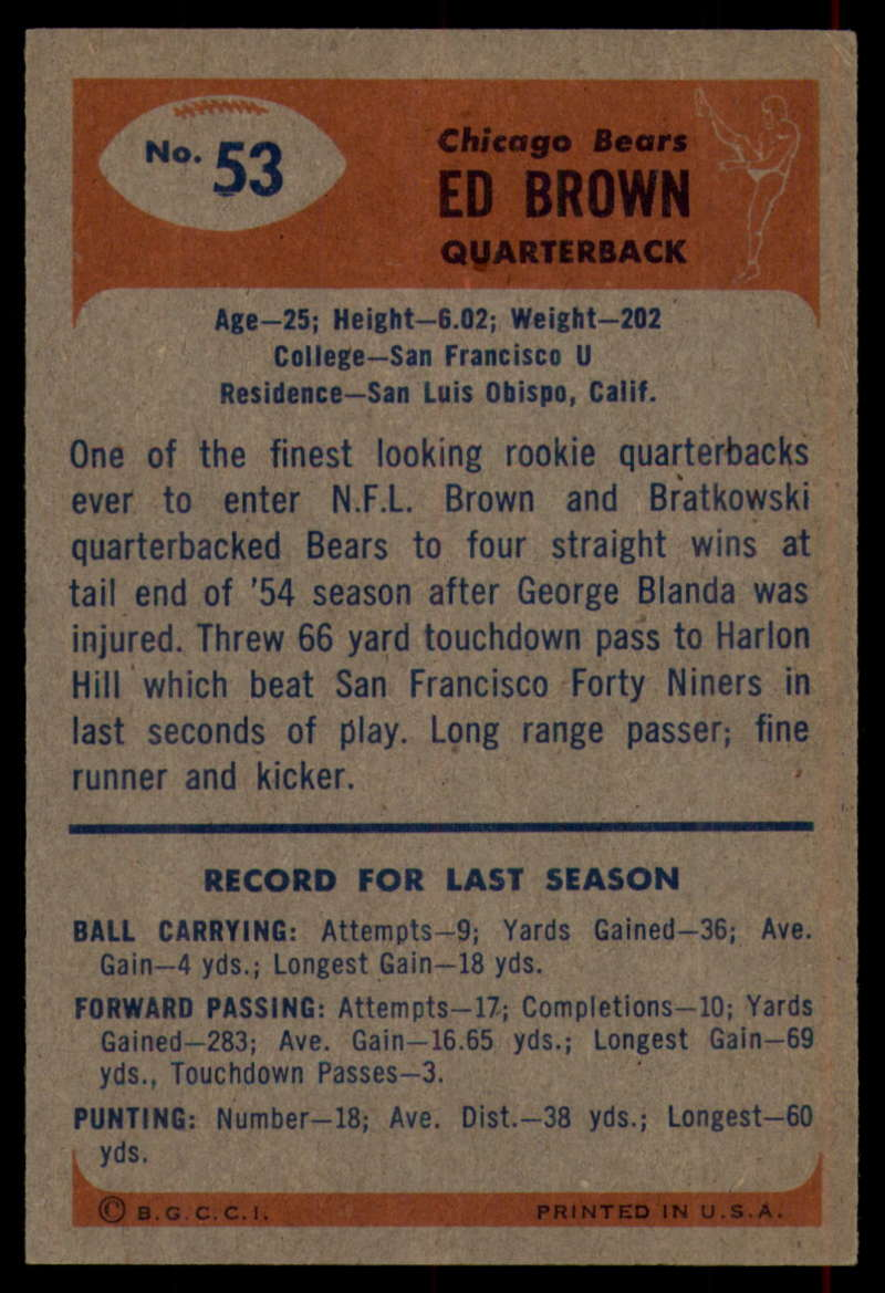 1955-Bowman-Football-1-70-Complete-your-set-Pick-your-card thumbnail 275