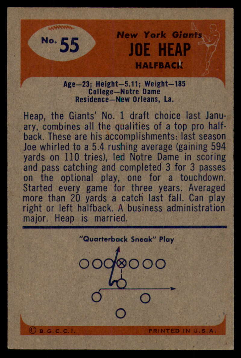 1955-Bowman-Football-1-70-Complete-your-set-Pick-your-card thumbnail 285