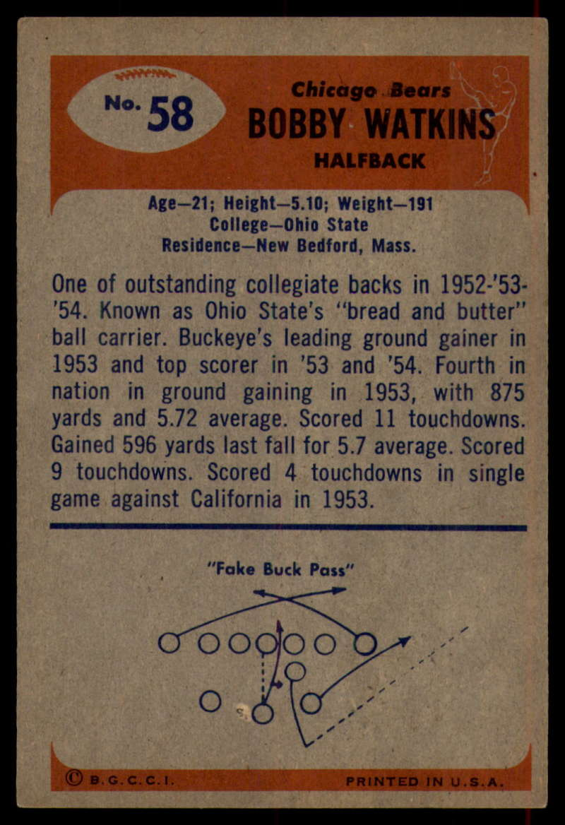1955-Bowman-Football-1-70-Complete-your-set-Pick-your-card thumbnail 315