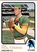 1973 Topps #60 Ken Holtzman NM-MT