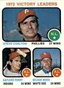 1973 Topps #66 Steve Carlton/Gaylord Perry/Wilbur Wood Victory Leaders NM-MT