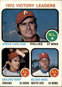 1973 Topps #66 Steve Carlton/Gaylord Perry/Wilbur Wood Victory Leaders EX Excellent