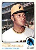 1973 Topps #117 Ramon Hernandez EX Excellent