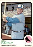 1973 Topps #125 Ron Fairly VG/EX Very Good/Excellent