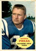 1960 Topps #6 George Preas VG Very Good RC Rookie