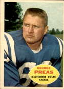 1960 Topps #6 George Preas VG/EX Very Good/Excellent RC Rookie