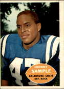 1960 Topps #9 Johnny Sample VG/EX Very Good/Excellent RC Rookie
