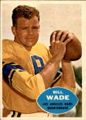1960 Topps #61 Bill Wade UER VG Very Good