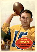 1960 Topps #62 Frank Ryan EX Excellent RC Rookie
