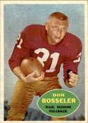 1960 Topps #124 Don Bosseler VG/EX Very Good/Excellent