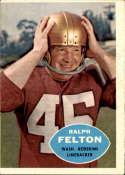 1960 Topps #129 Ralph Felton VG Very Good RC Rookie