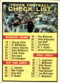 1961 Topps #122 Checklist G/VG Good/Very Good