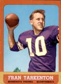 1963 Topps #98 Fran Tarkenton VG Very Good
