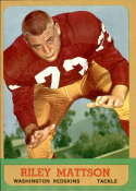 1963 Topps #164 Riley Mattson NM Near Mint SP