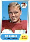 1968 Topps #8 Jim Bakken VG Very Good