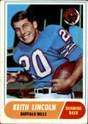 1968 Topps #19 Keith Lincoln VG Very Good