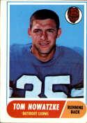1968 Topps #78 Tom Nowatzke VG Very Good