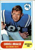 1968 Topps #126 Ordell Braase VG/EX Very Good/Excellent