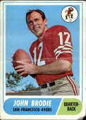 1968 Topps #139 John Brodie P Poor