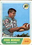 1968 Topps #144 Doug Moreau VG Very Good