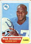 1968 Topps #152 Willie Richardson VG Very Good RC Rookie