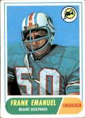 1968 Topps #170 Frank Emanuel VG/EX Very Good/Excellent