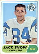 1968 Topps #184 Jack Snow VG/EX Very Good/Excellent RC Rookie