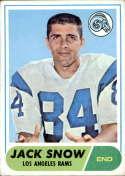 1968 Topps #184 Jack Snow VG Very Good RC Rookie