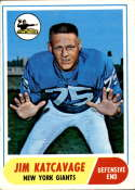 1968 Topps #187 Jim Katcavage EX Excellent