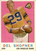 1959 Topps #15 Del Shofner EX Excellent RC Rookie