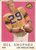 1959 Topps #15 Del Shofner NM Near Mint RC Rookie
