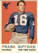 1959 Topps #20 Frank Gifford EX Excellent