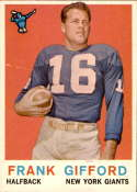 1959 Topps #20 Frank Gifford NM Near Mint