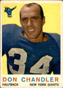 1959 Topps #49 Don Chandler VG/EX Very Good/Excellent