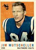 1959 Topps #89 Jim Mutscheller VG/EX Very Good/Excellent