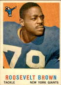1959 Topps #114 Roosevelt Brown EX/NM