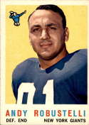 1959 Topps #147 Andy Robustelli VG/EX Very Good/Excellent