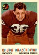 1959 Topps #172 Chuck Drazenovich UER EX/NM