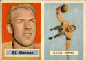 1957 Topps #58c Will Sherman EX Excellent
