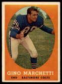 1958 Topps #16 Gino Marchetti EX++ Excellent++