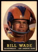 1958 Topps #38 Bill Wade VG/EX Very Good/Excellent